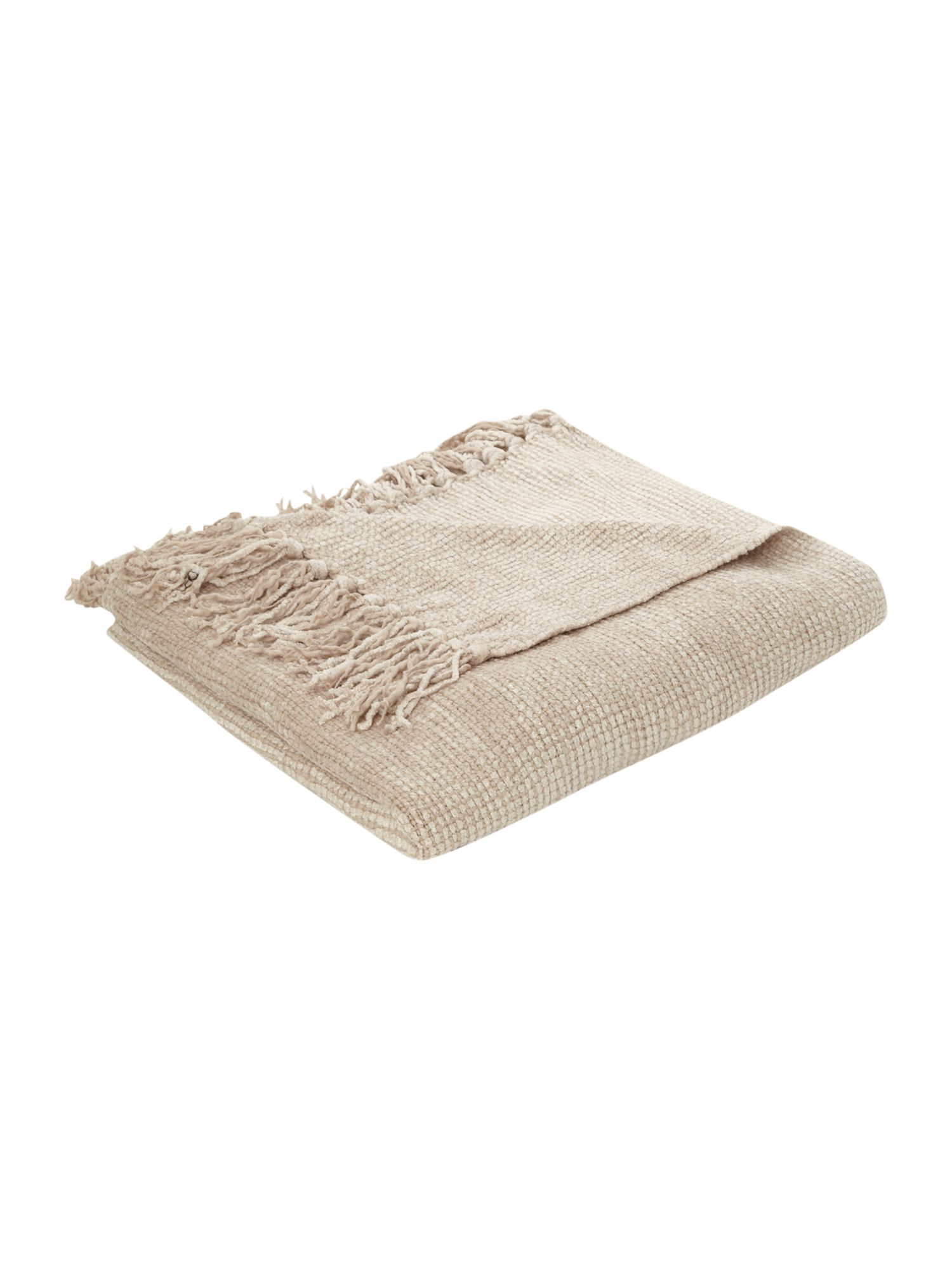 Natural chenille throw