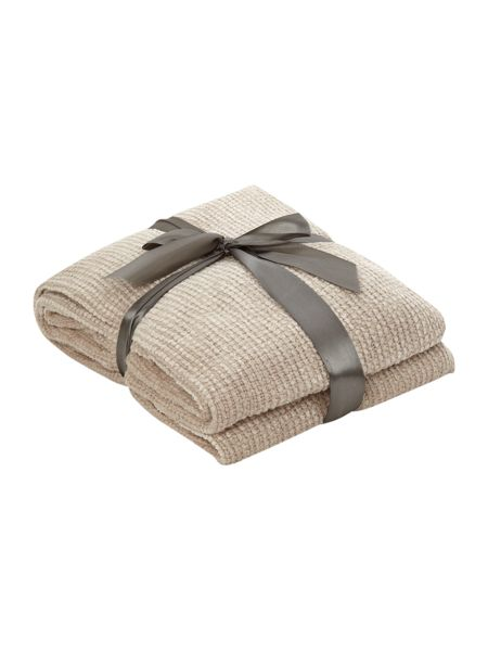 Linea Natural chenille throw