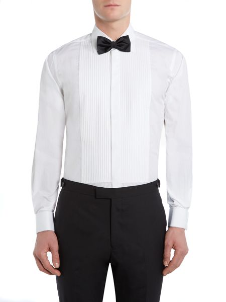 Howick Tailored Classic collar pleated front evening shirt