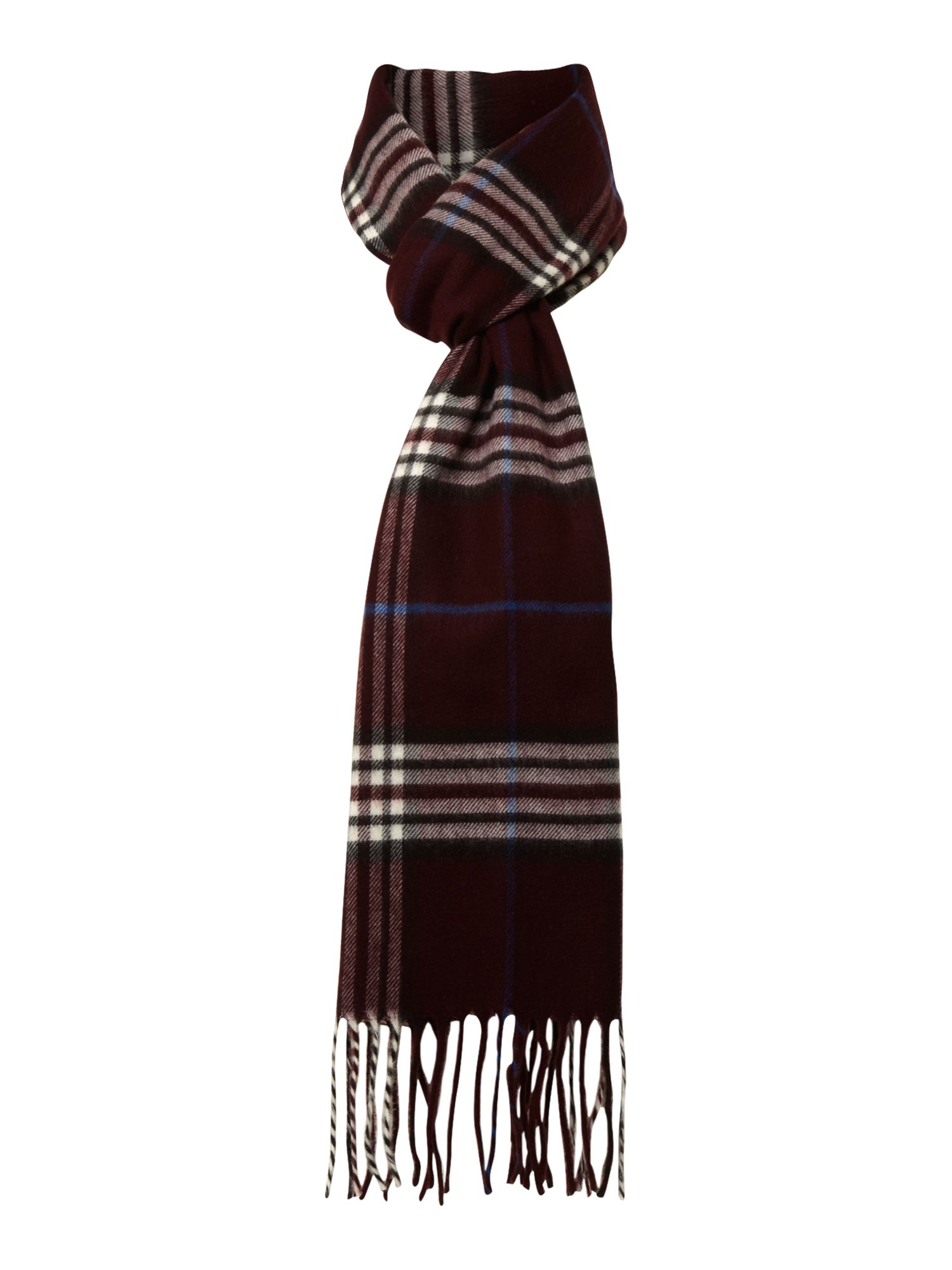 Soft touch check scarf