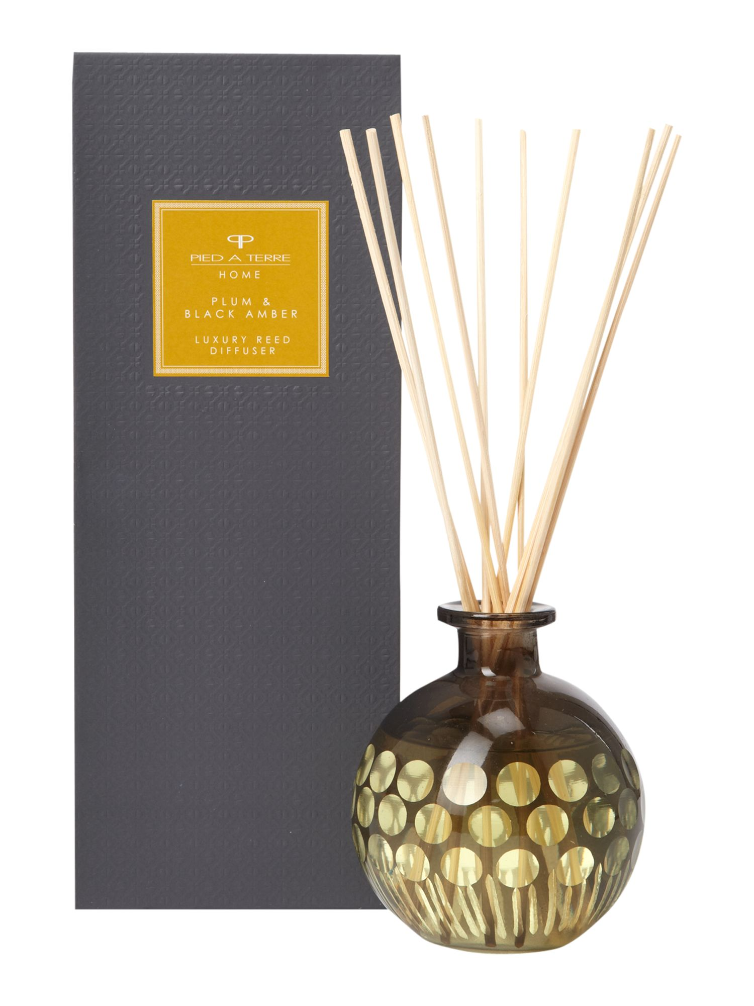 Plum and black amber diffuser