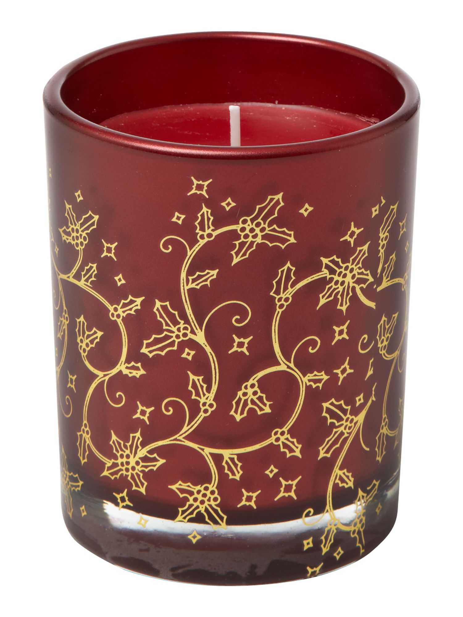 Ruby red berries candle