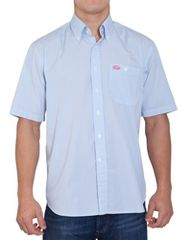 Raging Bull Blue fine stripe short sleeve shirt