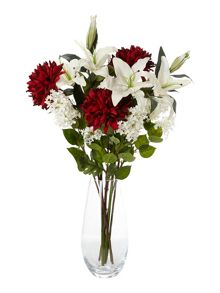 Linea Deep red chrysanthemum