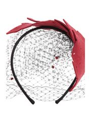 Dickins & Jones Leaf design headband with netting