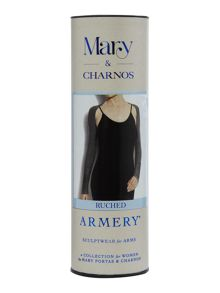 Ruched sleeve armery