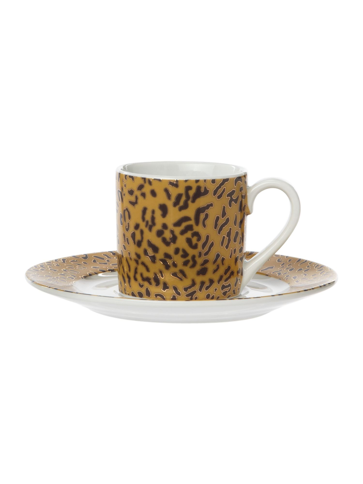 Leopard set of 4 espressos