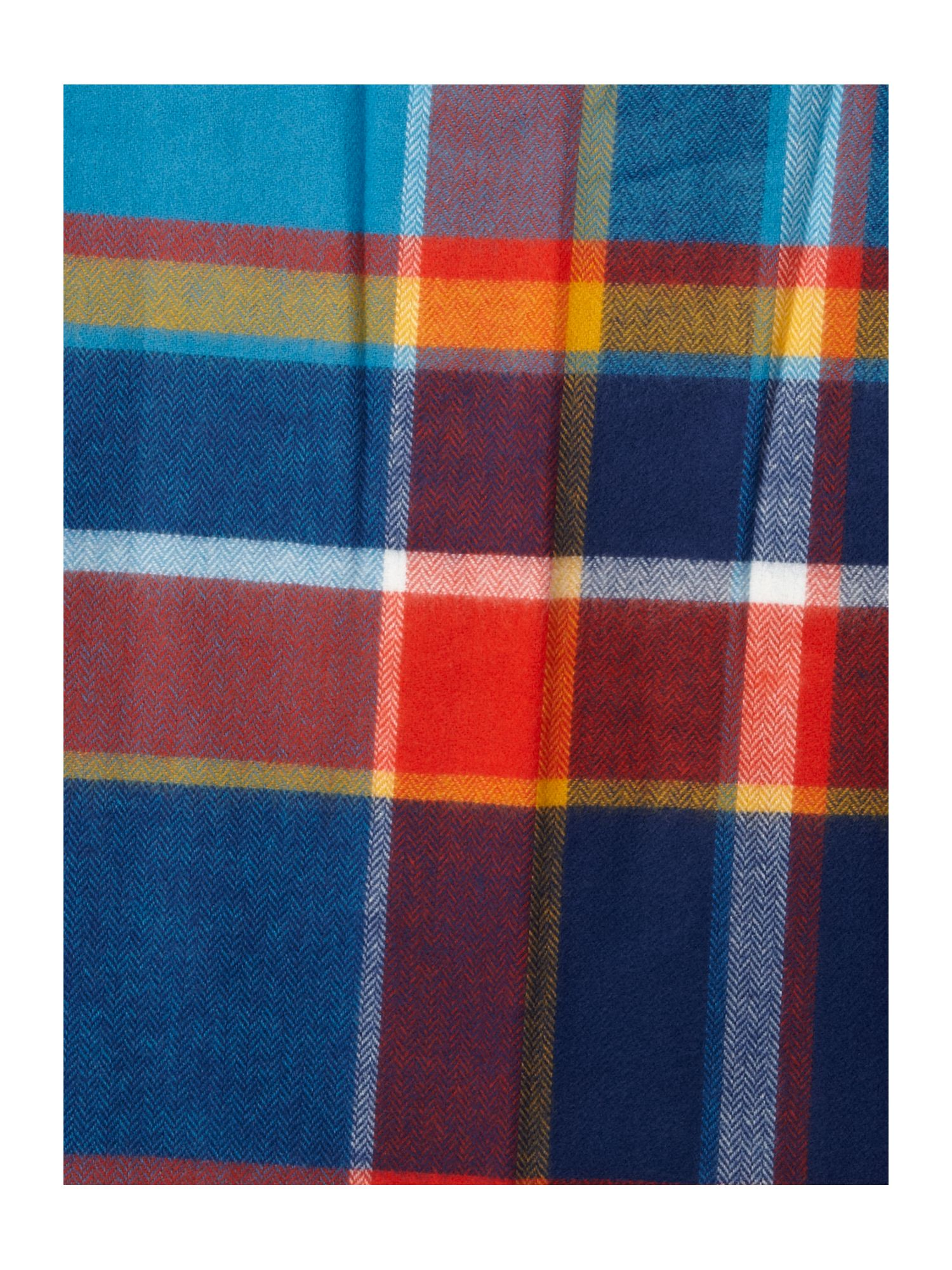 Soft touch casual check scarf