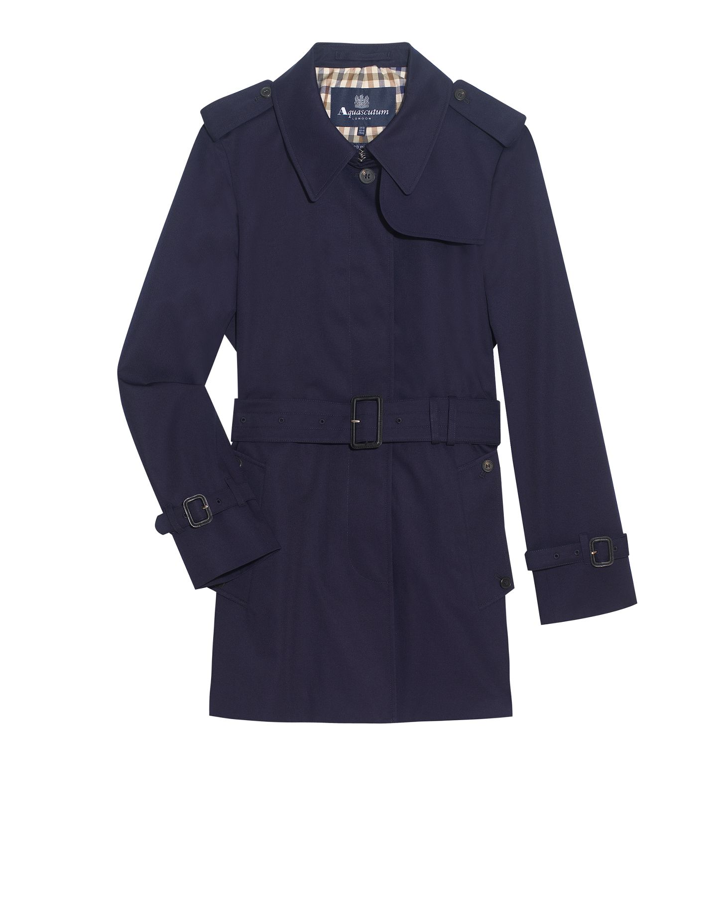 Women's Aquascutum Jennifer single breasted rainwear, Navy