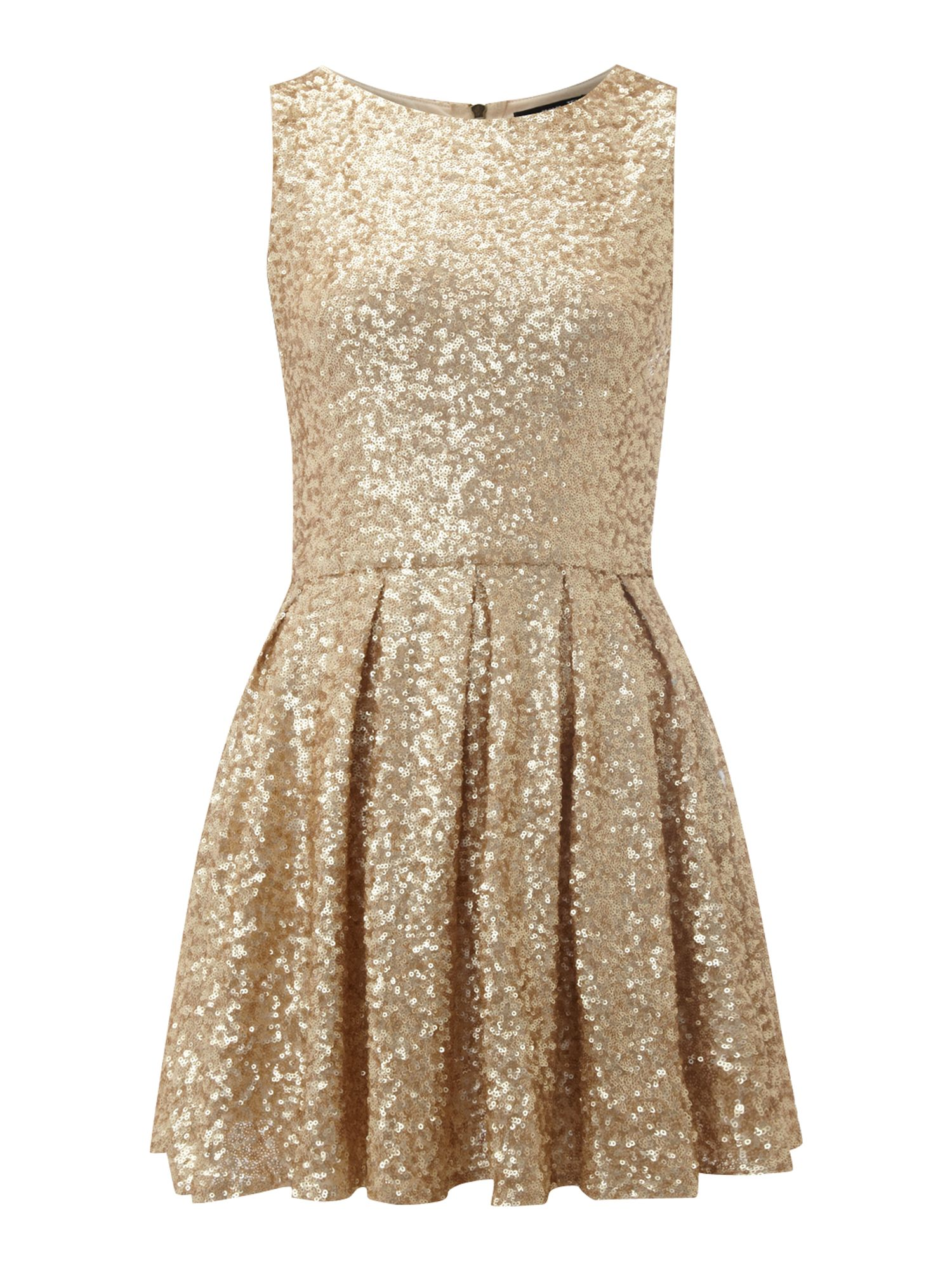 All over fit and flare sequin dress