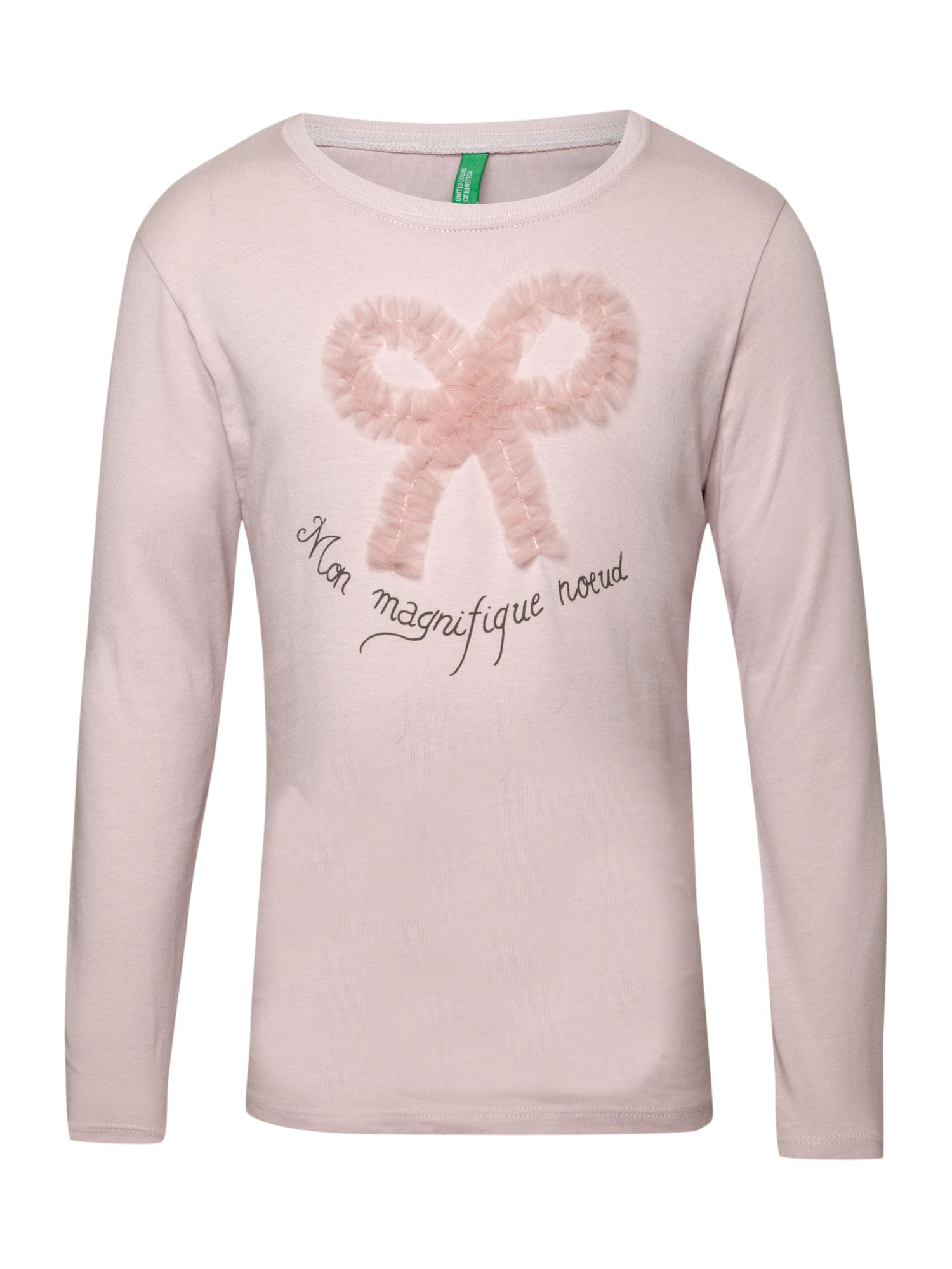 Benetton Long-sleeved printed t-shirt, Pink product image
