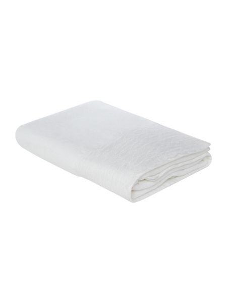 Shabby Chic Lace trim bath towel in white