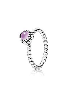 Pandora Amethyst February birthstone ring