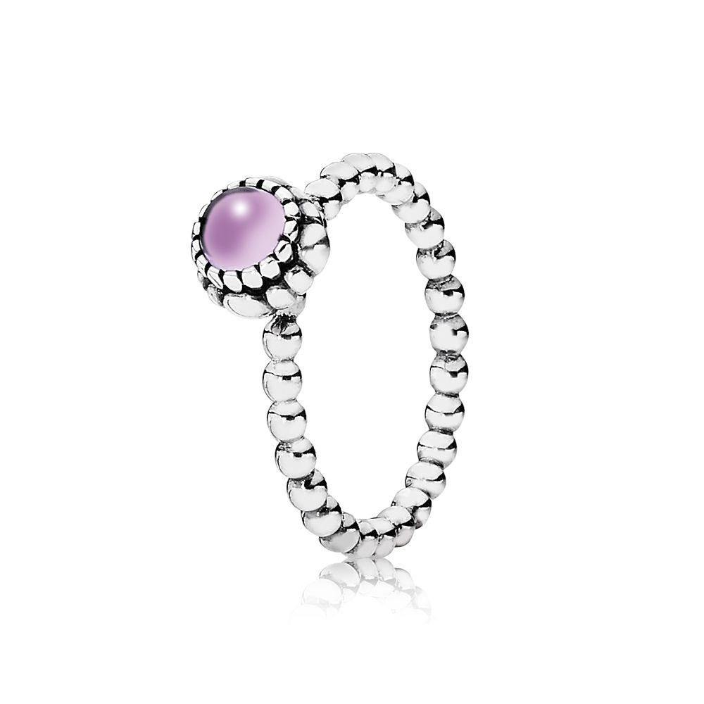 Amethyst February birthstone ring