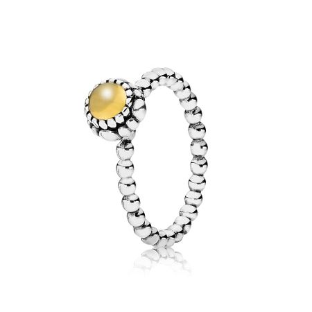 Pandora Citrine November birthstone ring