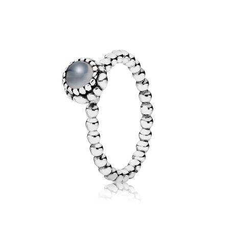 Pandora Grey moonstone June silver ring