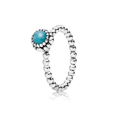 Pandora Turquoise December silver ring