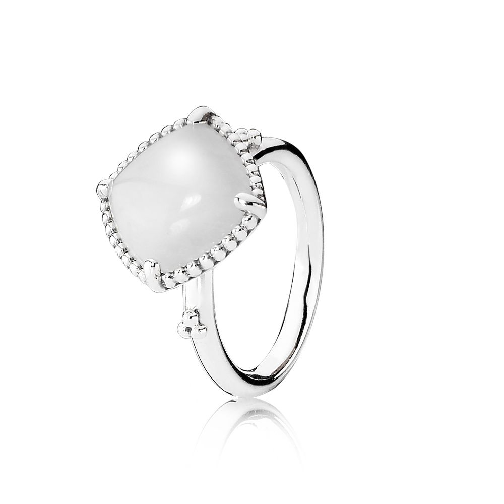 Sterling Silver and White Quartzite Ring