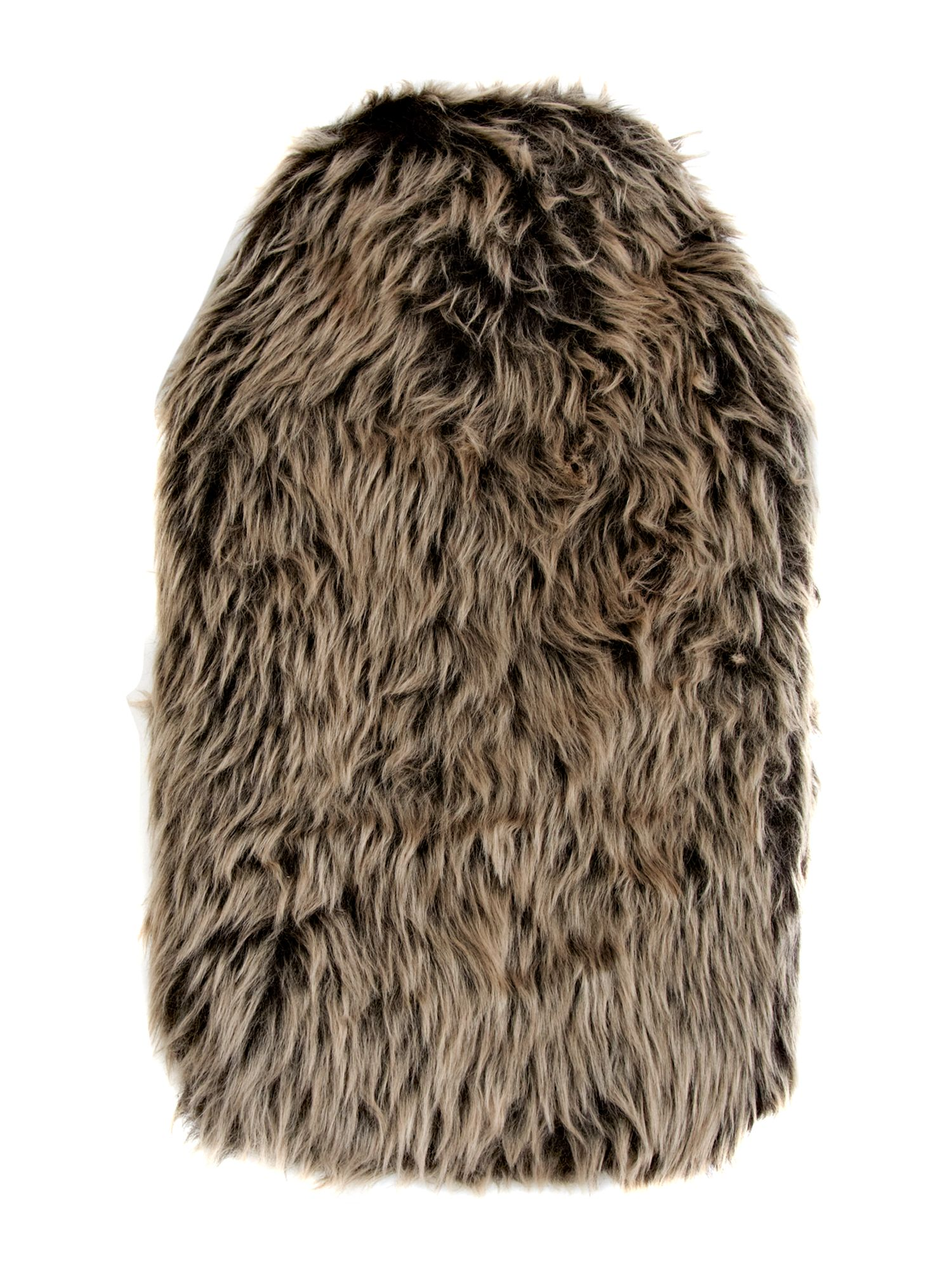 Shaggy faux fur hot water bottle