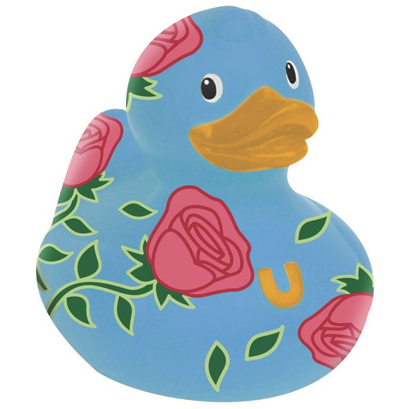 Mini rose duck bath toy