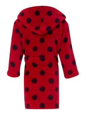 Linea Spot robe with hood for girls