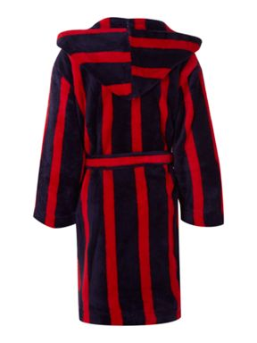 Linea Boys striped robes with hood