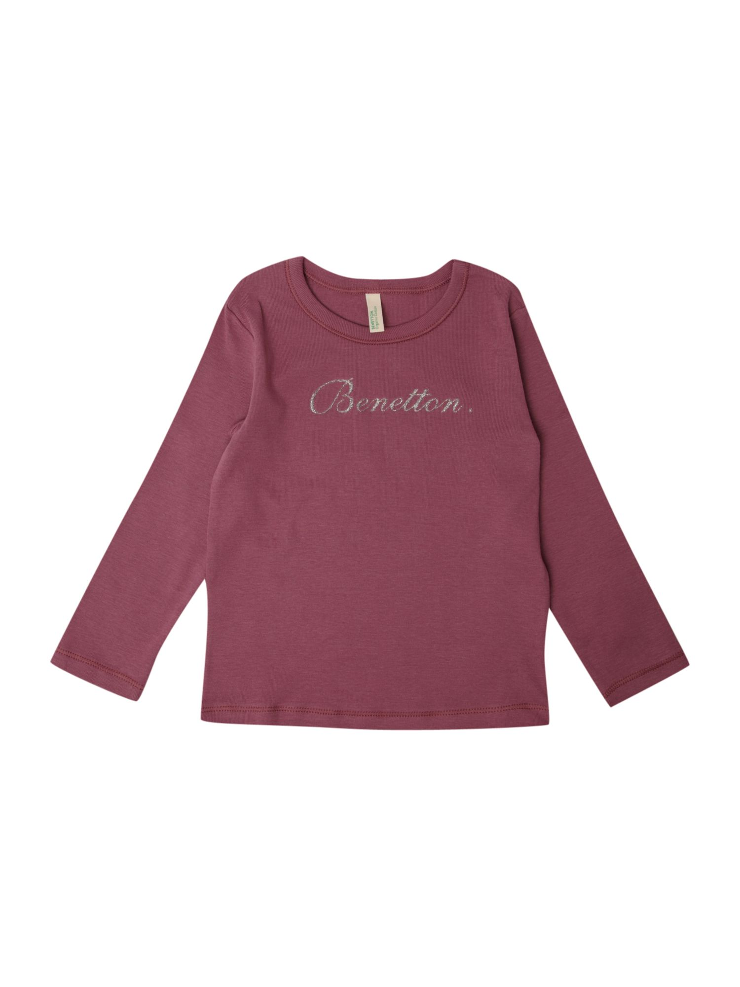 Benetton Long-sleeved printed t-shirt, Light product image