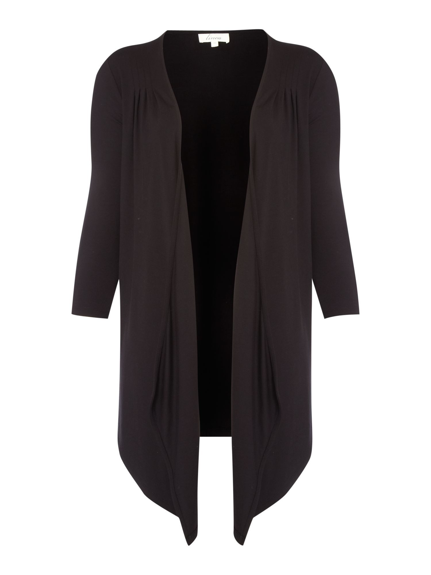 Pleat waterfall cardigan