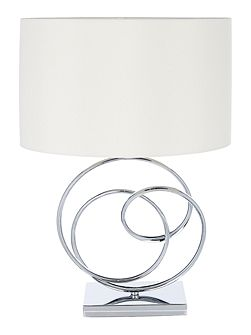 Leah ring base sculpture table lamp
