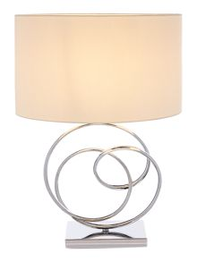 Linea Leah ring base sculpture table lamp