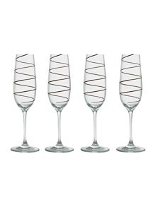 Metallic spiral flutes set of 4