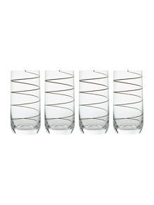 Metallic spiral hi balls set of 4