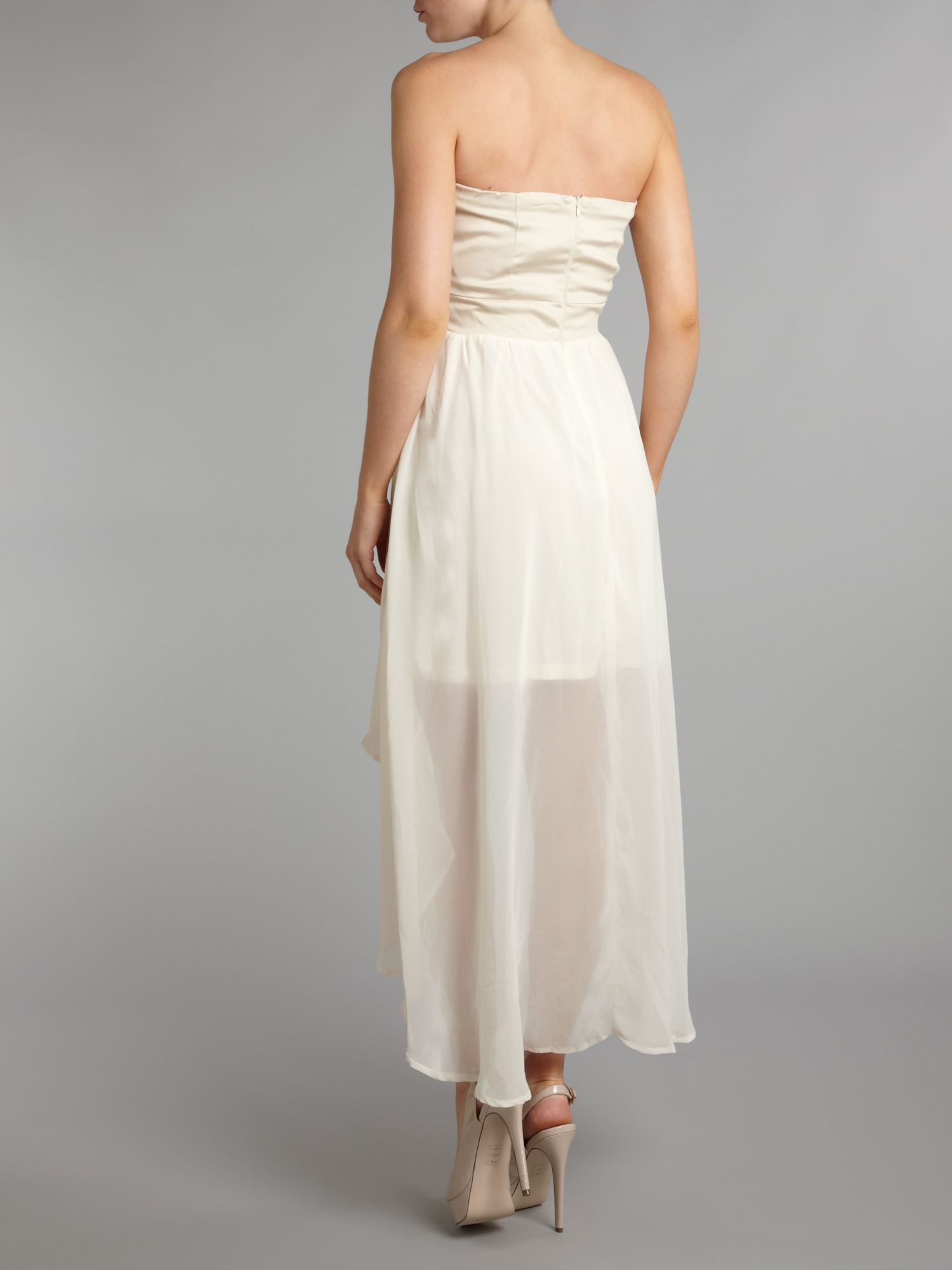 Ax paris jewel drop back chiffon dress