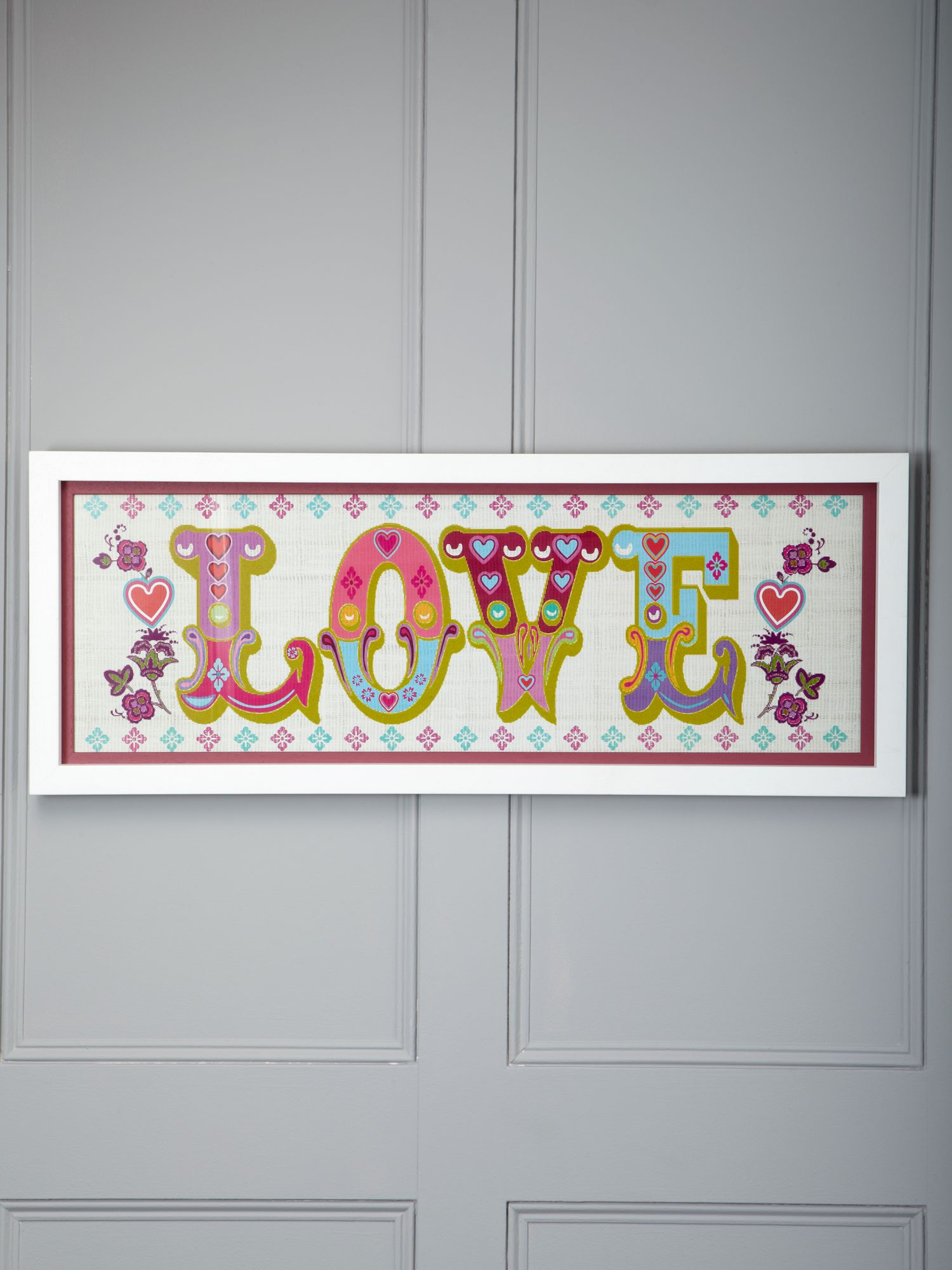Love circus print framed wall art