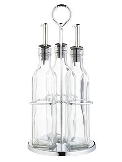 Italian Collection glass, oil and vinegar set