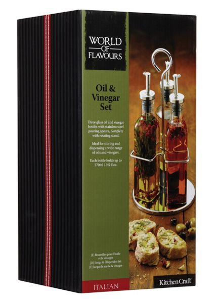 Kitchen Craft Italian Collection glass, oil and vinegar set