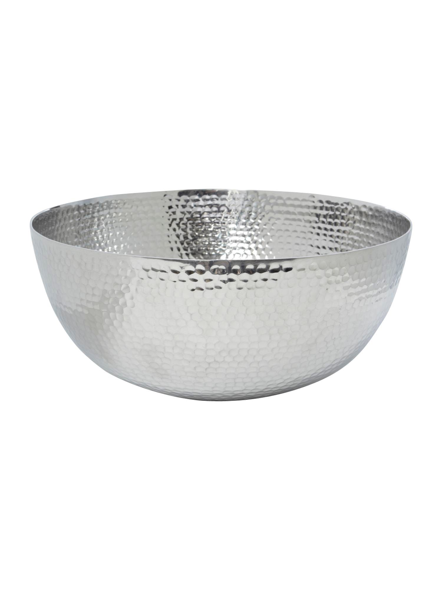 Beaten metal salad bowl