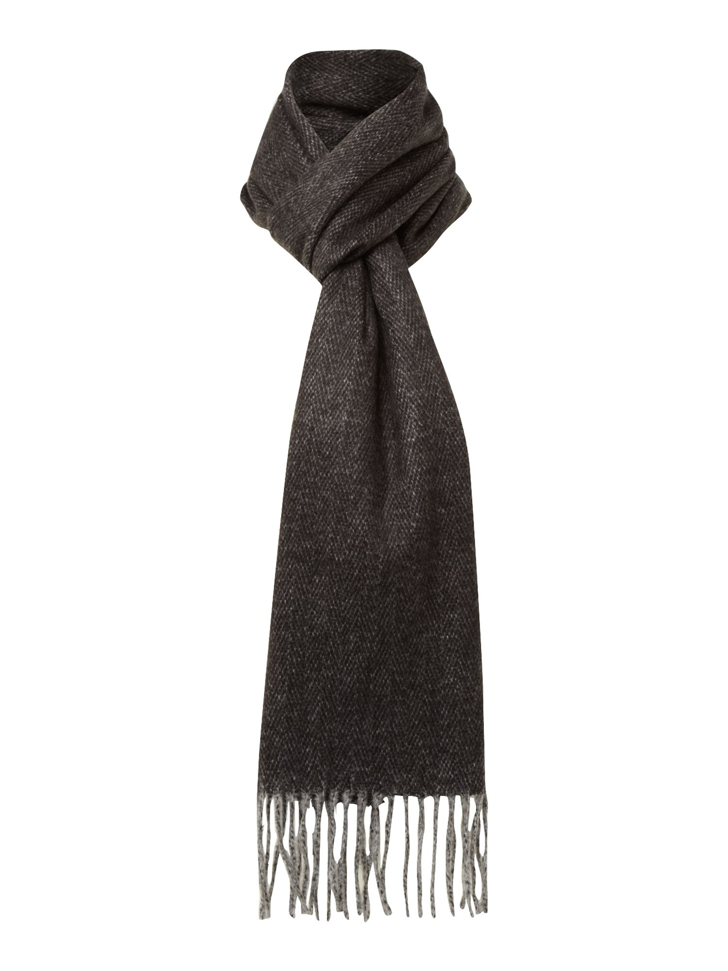 Soft touch plain herringbone scarf