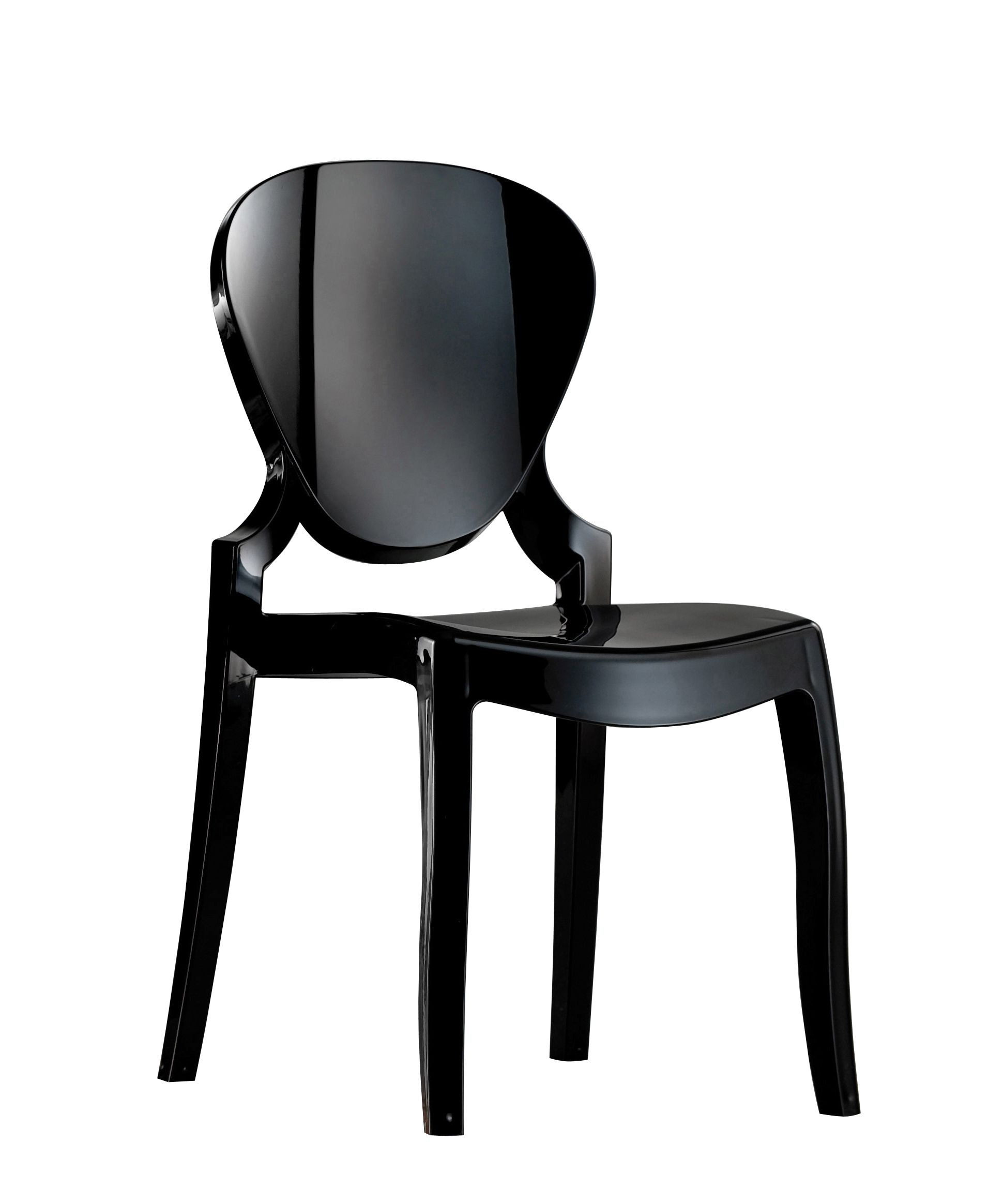 Queen Chair Black Set of 4