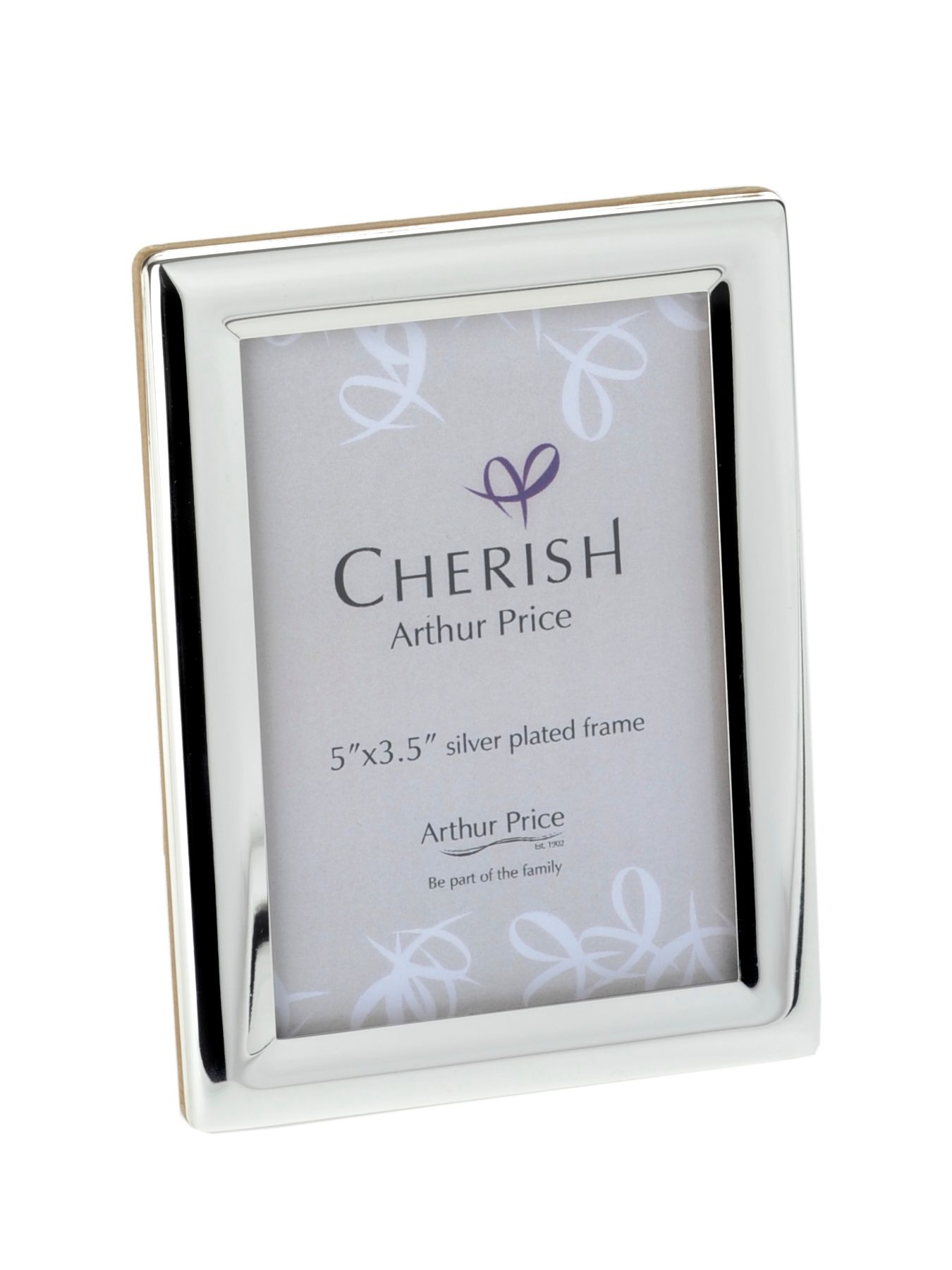 Silver plated 3.5 x 5 Oxford photograph frame