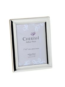 Silver plated 7 x 5 Oxford photograph frame