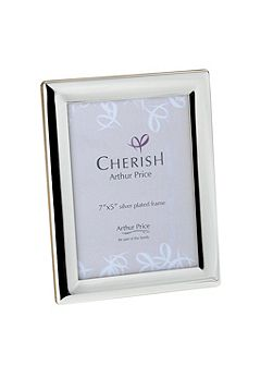 Silver plated Oxford photograph frame 5x7