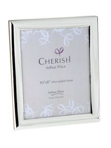 Silver plated 10 x 8 Oxford photograph frame