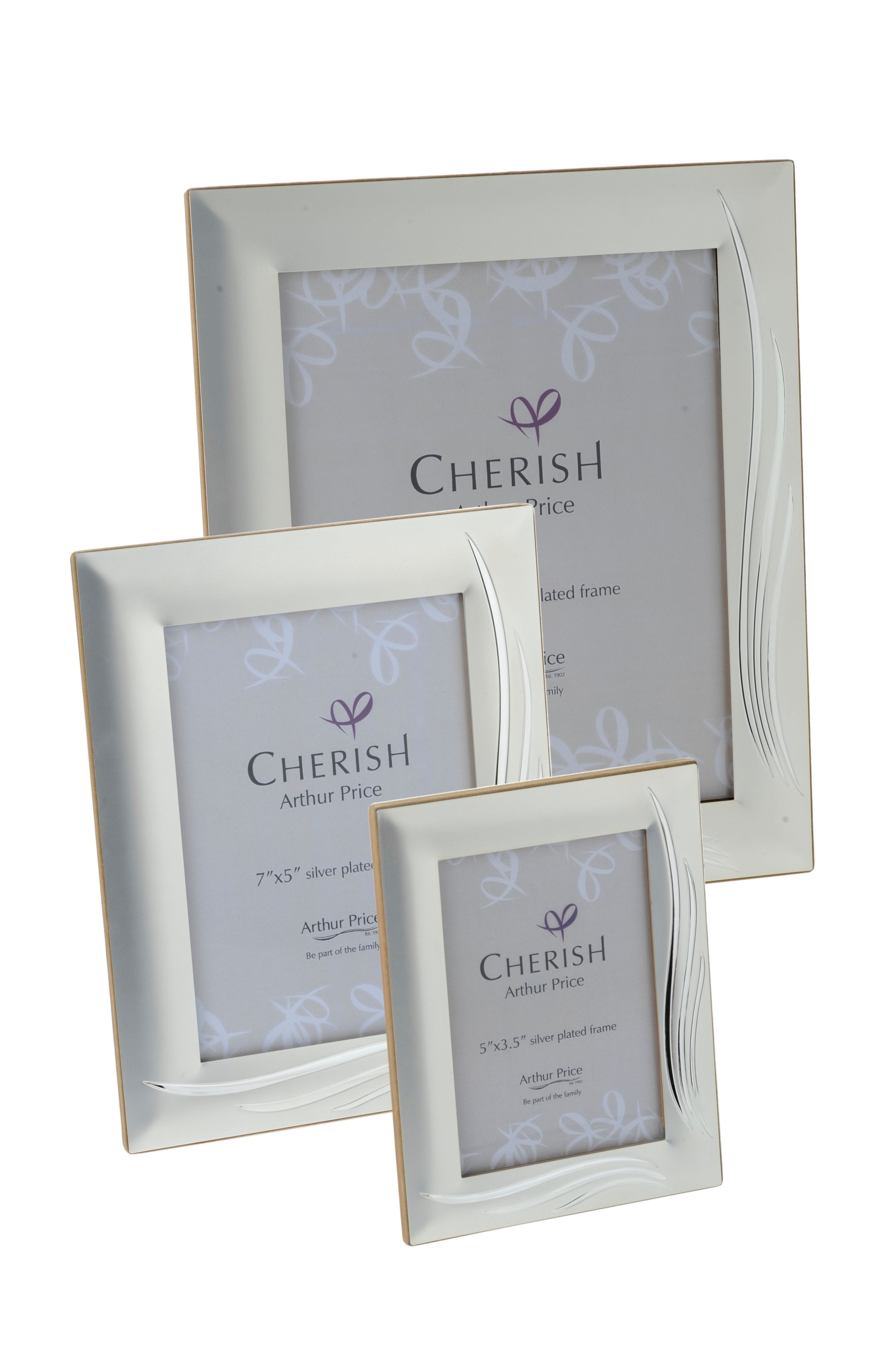 Silver plated 7 x 5 Weston photograph frame