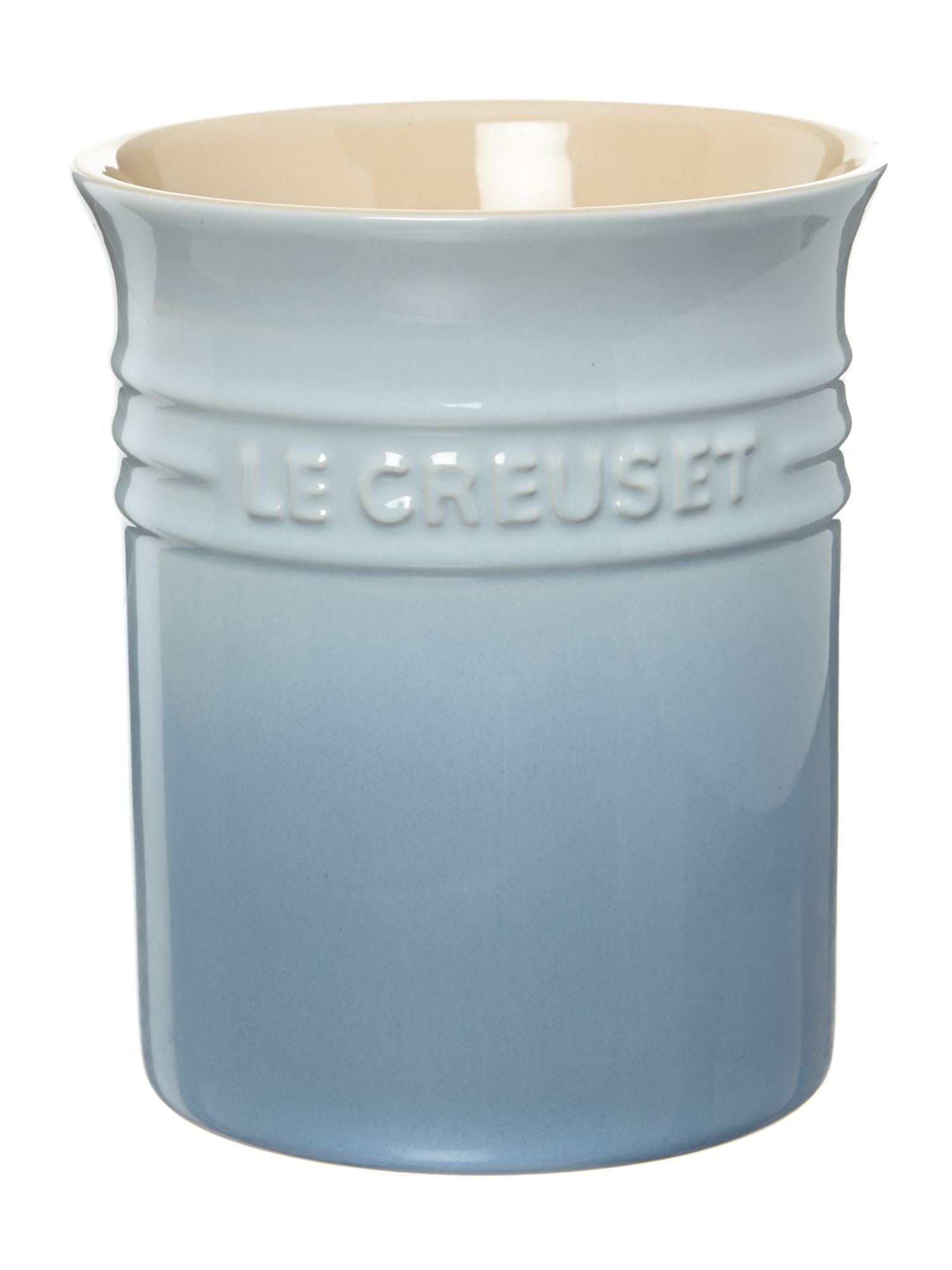 Utensil jar, Coastal Blue