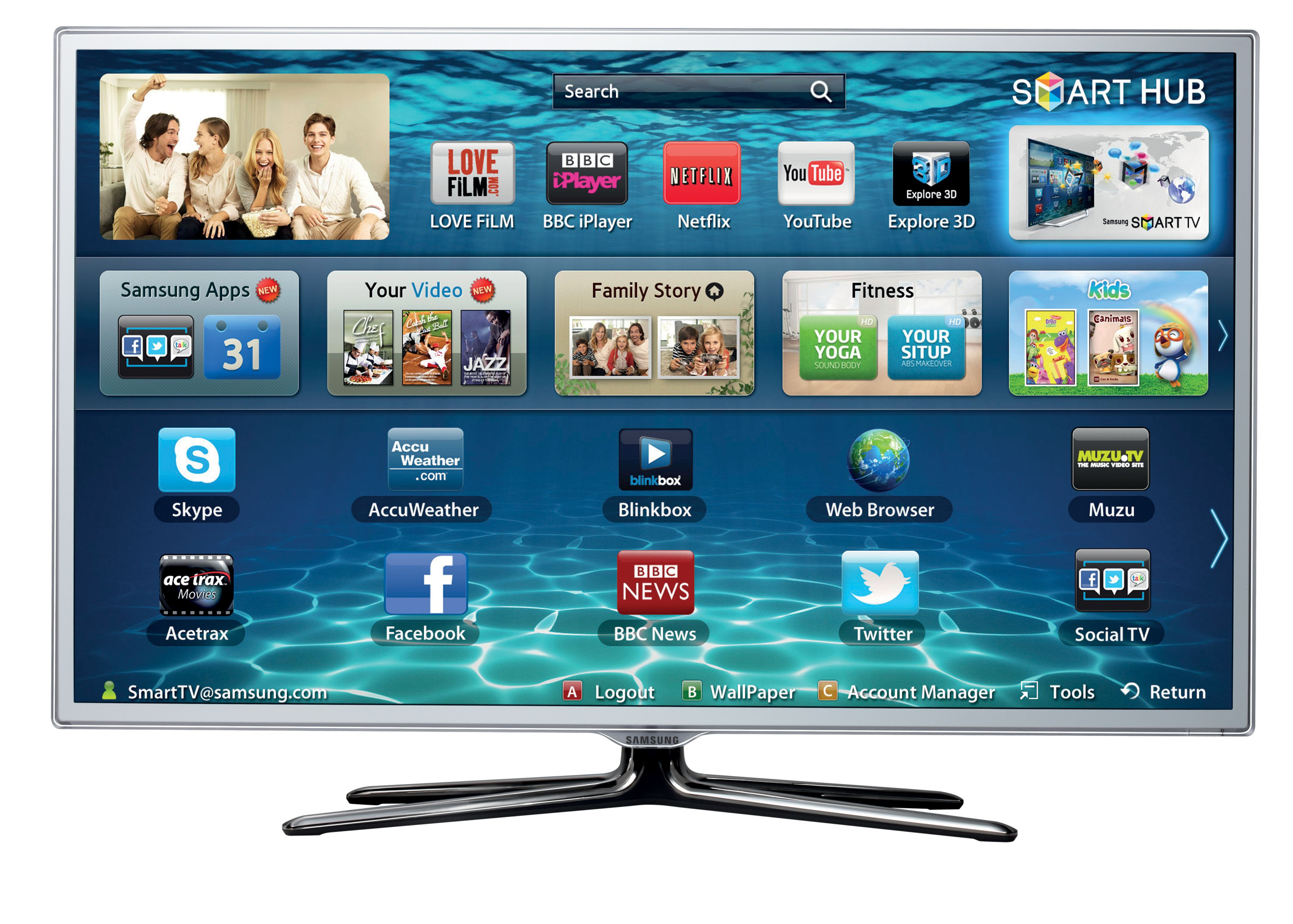 UE46ES6710 Smart 3D LED TV