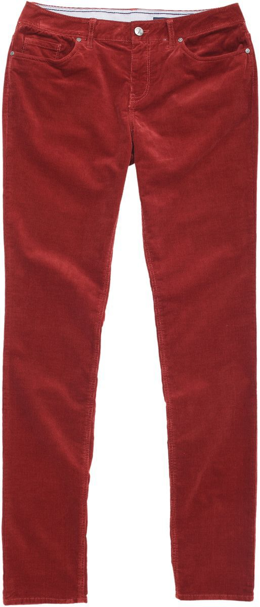 Lane cord slim leg trousers