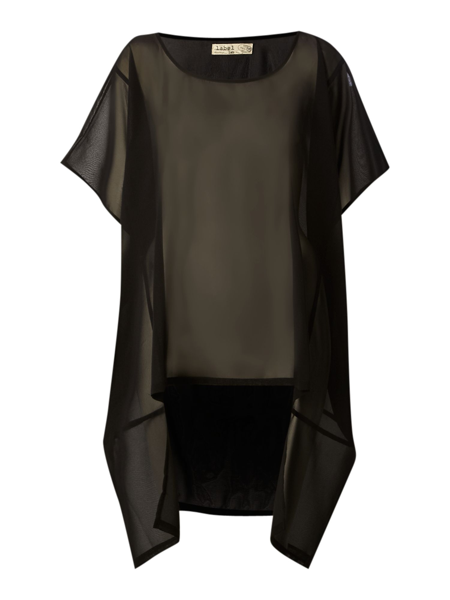 Label Lab Womens Label Lab Oversized Sheer Blouse, product image