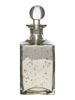 Shabby Chic Small Glass Decanter Bottle in Antique