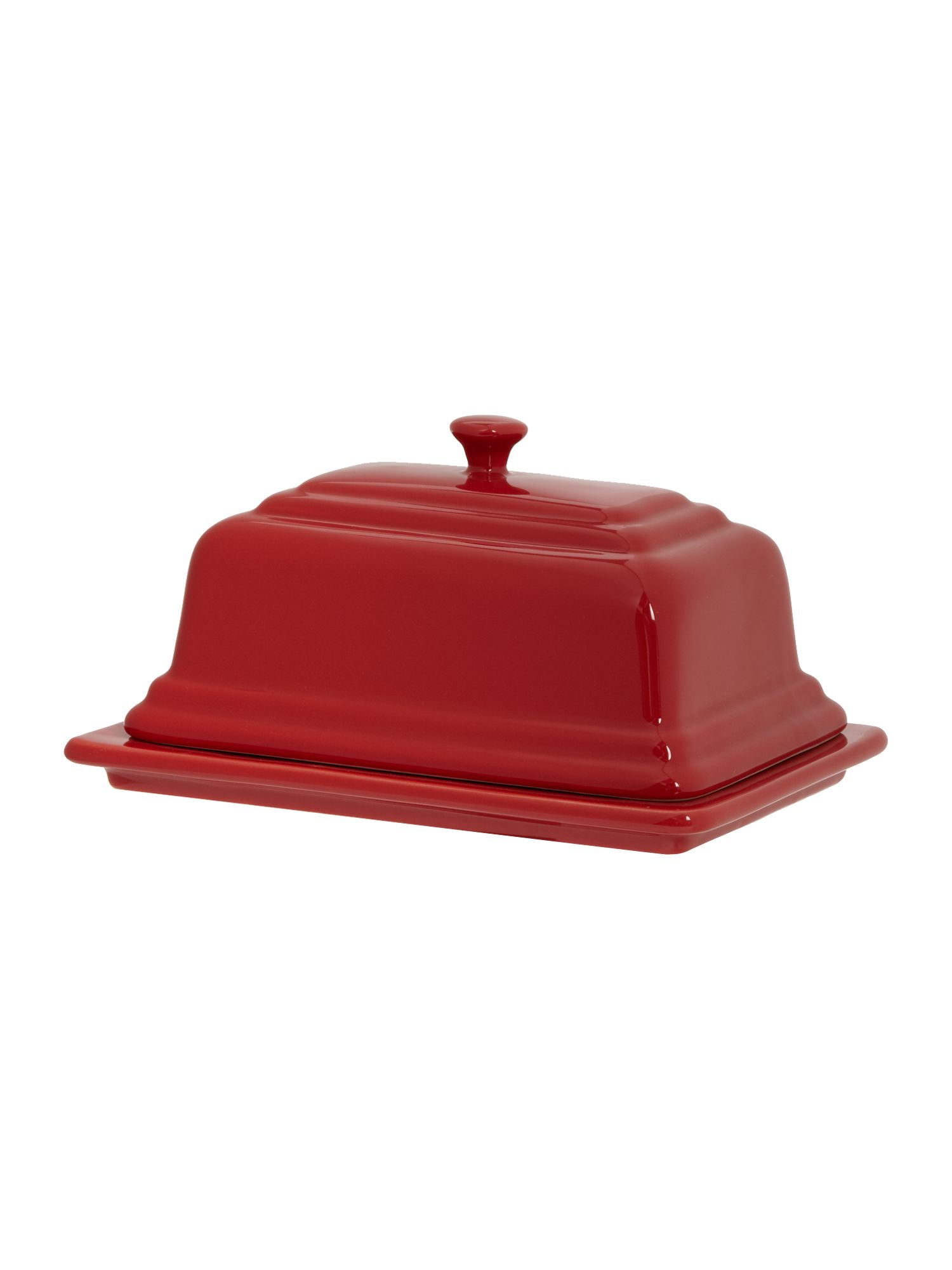 Maison butter dish, Red